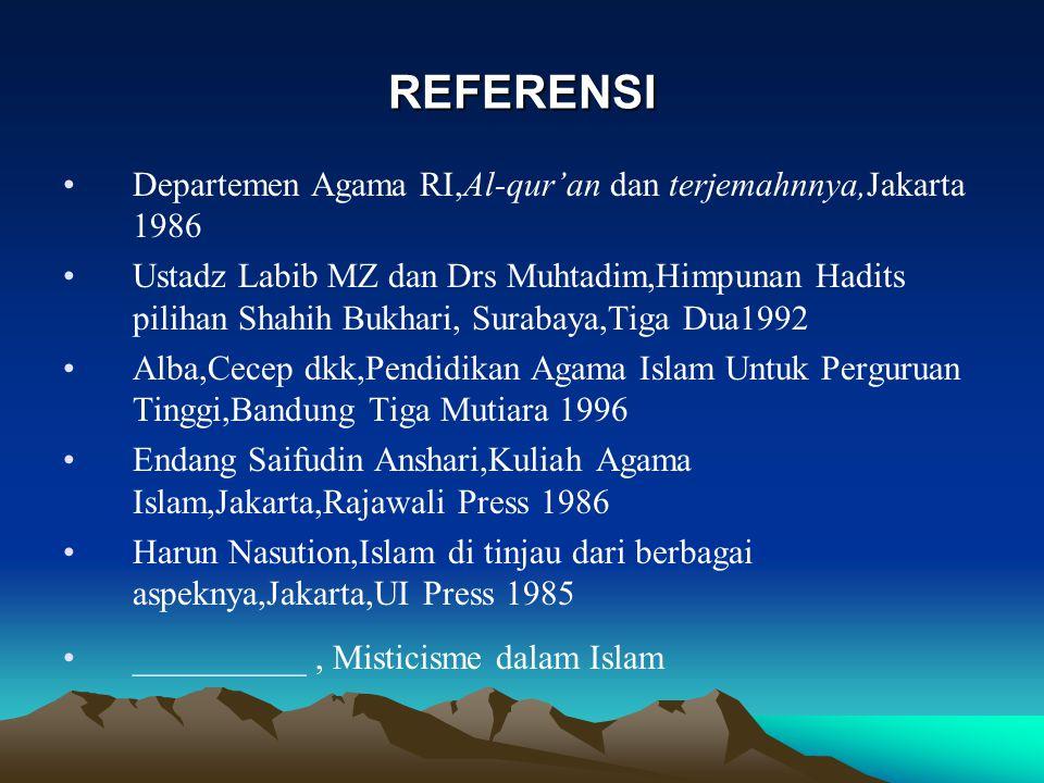 A.Tauhid mempunyai tiga dimensi : Tauhid Rububiyah Allah sebagai Khaliq,Raziq dan Mudabbira Tauhid Mulkiyah Allah Sebagai Hakim, Wali, Ghayah.