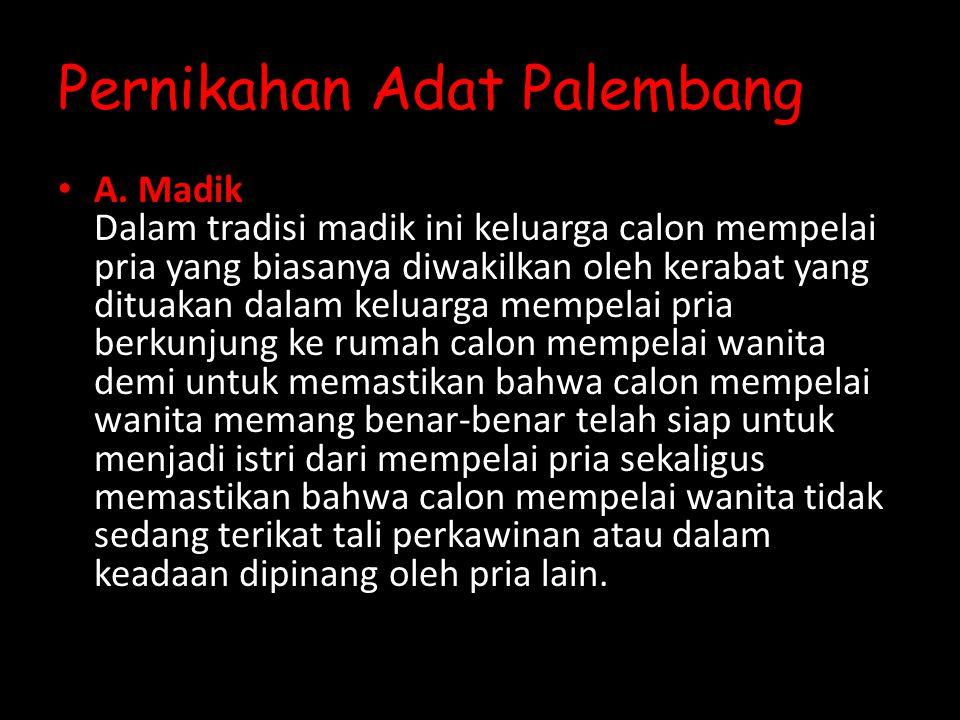 Pernikahan Adat Palembang A.
