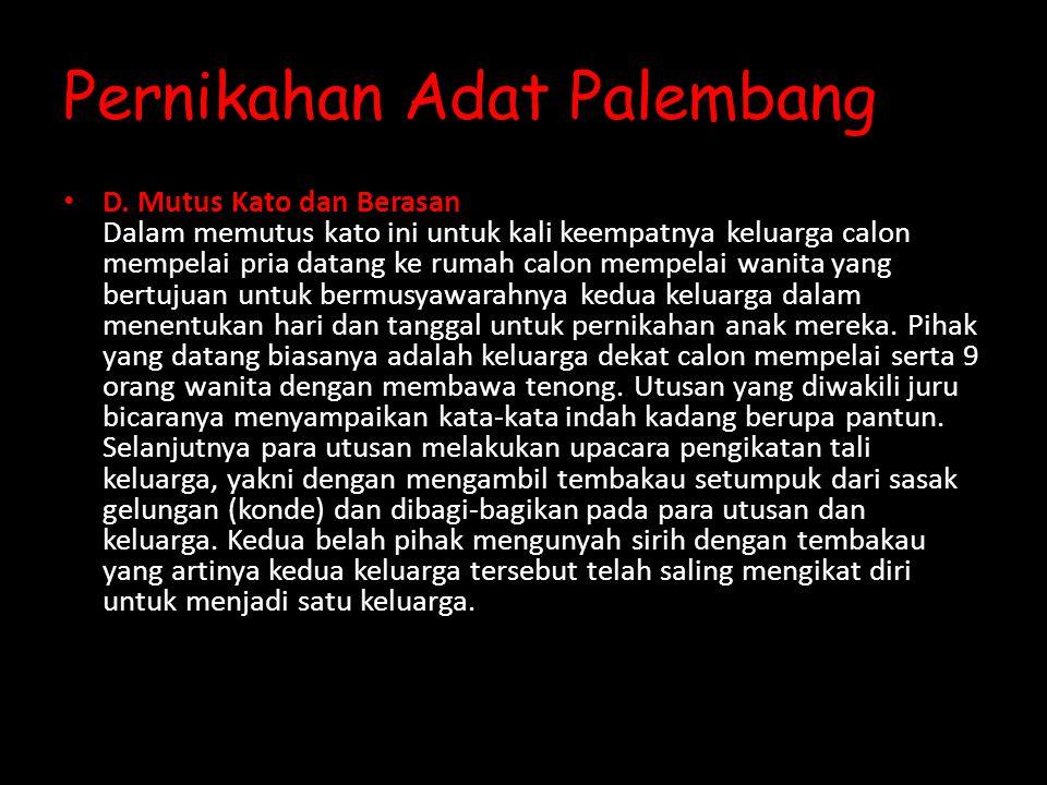 Pernikahan Adat Palembang D.