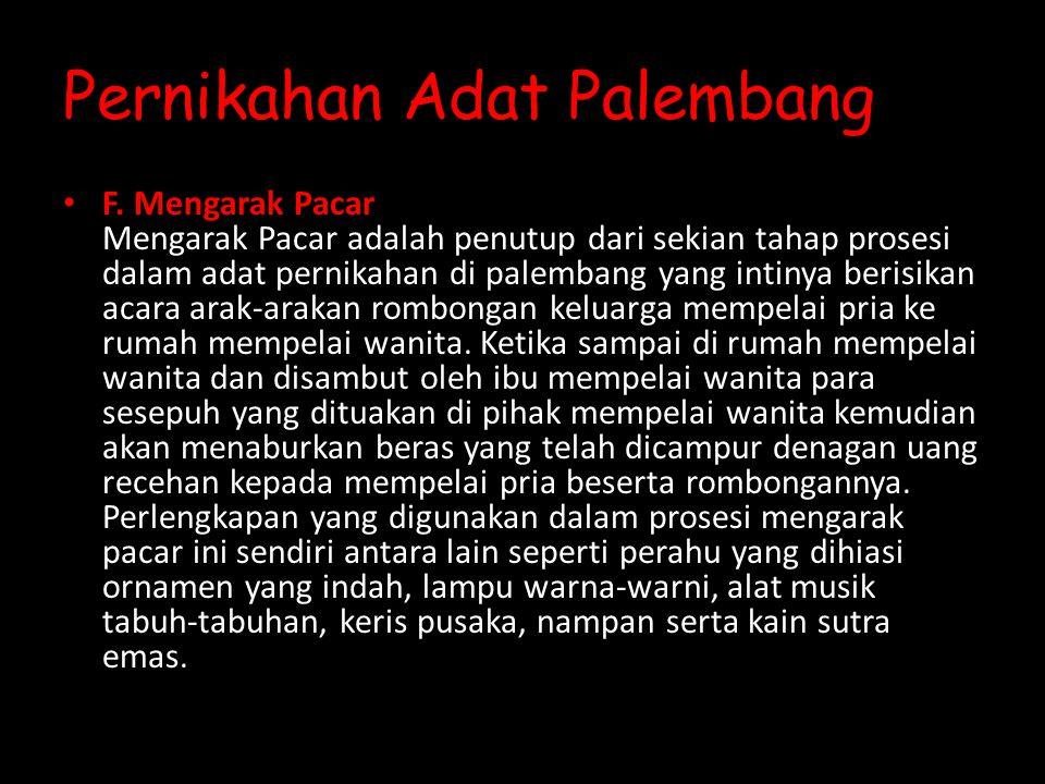 Pernikahan Adat Palembang F.