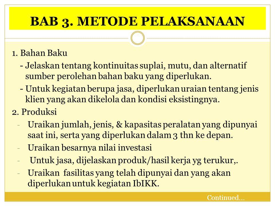 BAB 3.METODE PELAKSANAAN 3.
