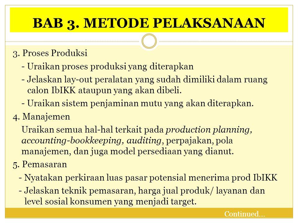 BAB 3.METODE PELAKSANAAN 6.