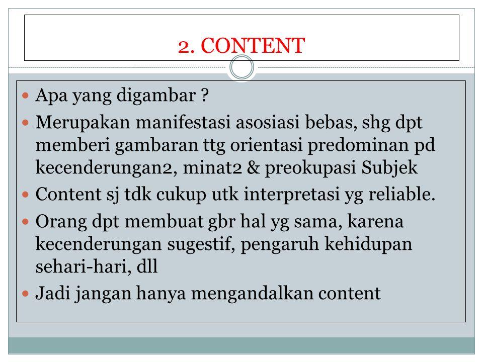 2.CONTENT Apa yang digambar .