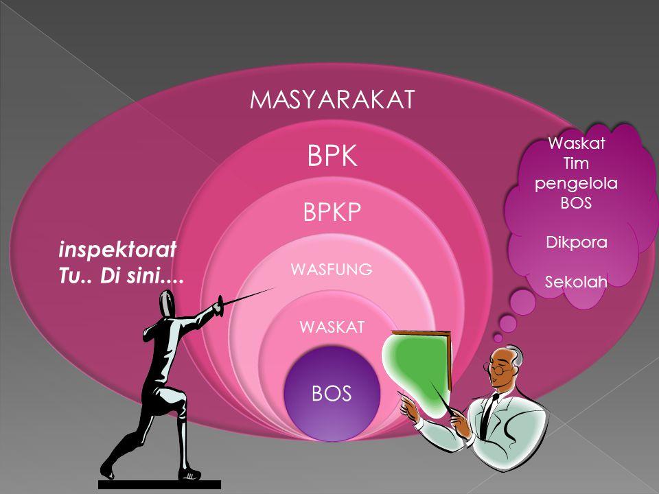 MASYARAKAT BPK BPKP WASFUNG WASKAT BOS inspektorat Tu..