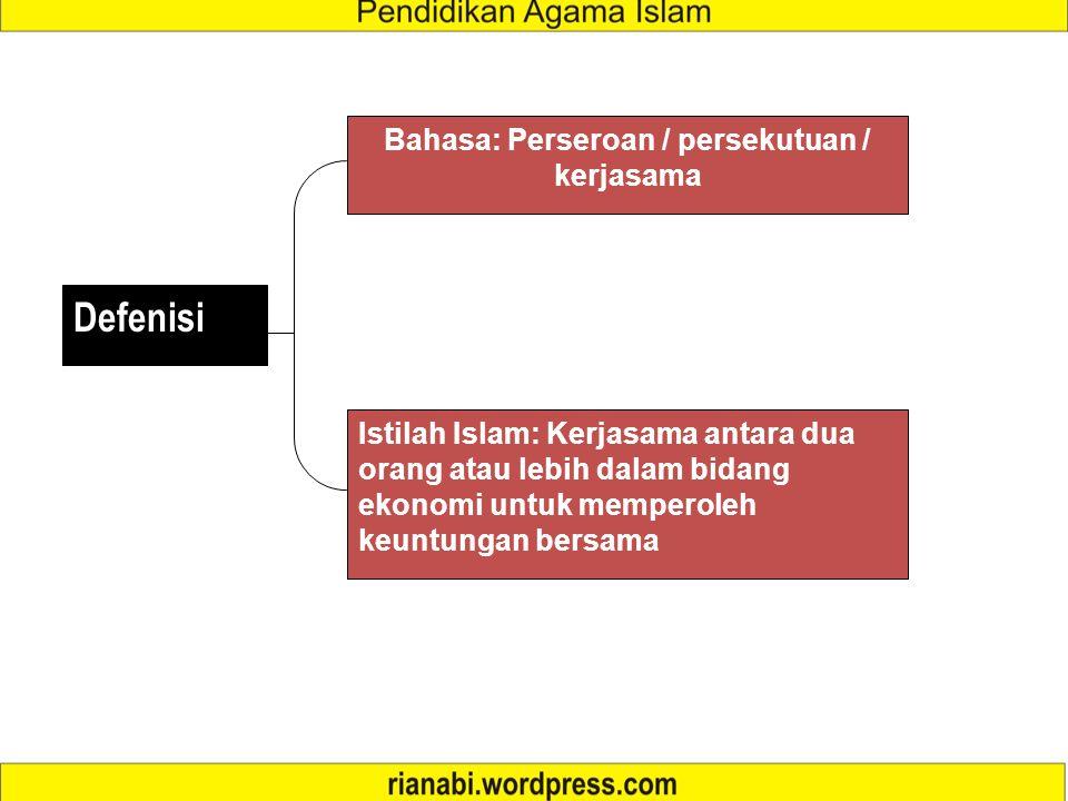 3 SYIRKAH/kerjasama dalilpengertianrukun