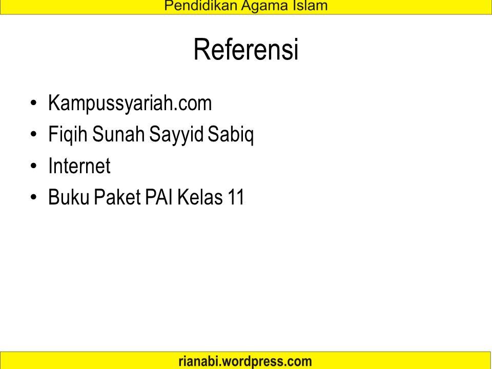 Referensi Kampussyariah.com Fiqih Sunah Sayyid Sabiq Internet Buku Paket PAI Kelas 11