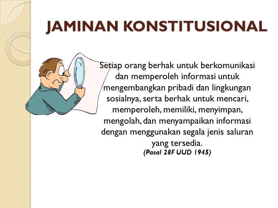 Komisi Informasi KI Pusat (Wajib) 1.Terdiri dari 7 orang (unsur Pemerintah & Masyarakat).