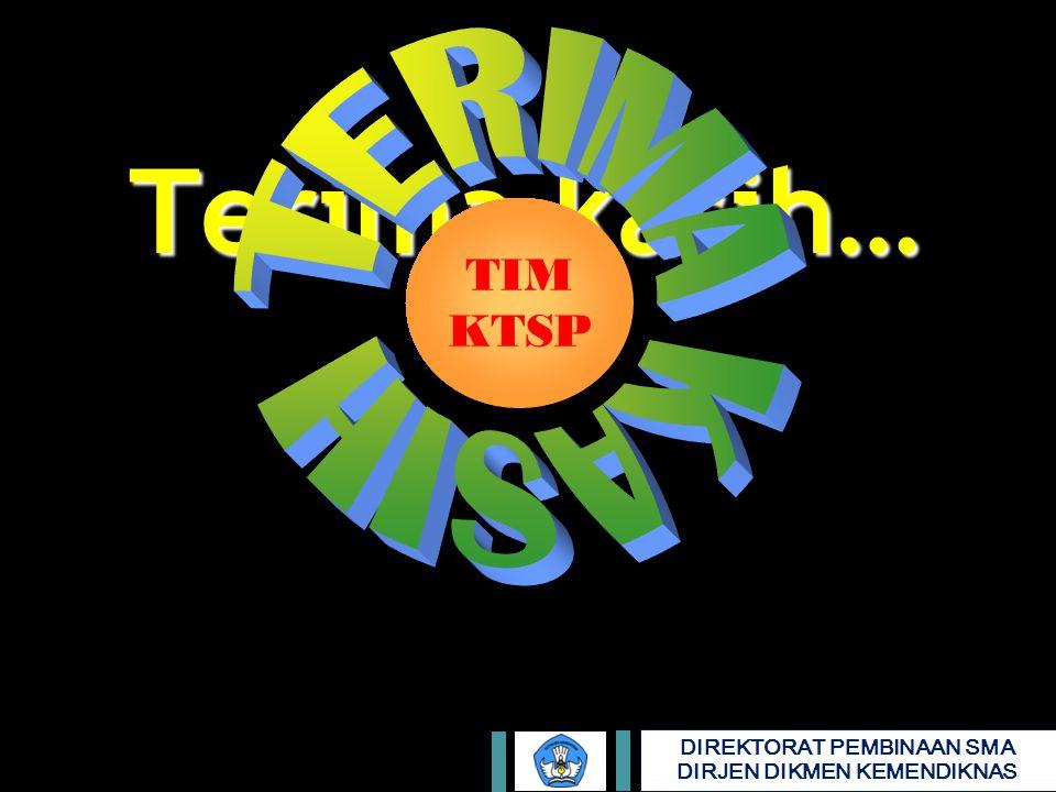 DIREKTORAT PEMBINAAN SMA DIRJEN DIKMEN KEMENDIKNAS Terima kasih… TIM KTSP