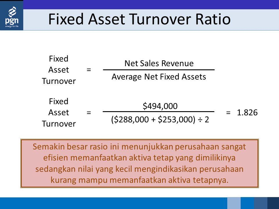 Semakin besar rasio ini menunjukkan perusahaan sangat efisien memanfaatkan aktiva tetap yang dimilikinya sedangkan nilai yang kecil mengindikasikan perusahaan kurang mampu memanfaatkan aktiva tetapnya.