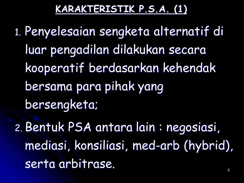 16 Filosofi PSA (2) 5.PSA & upaya pencapaian situasi win-win solution; 6.