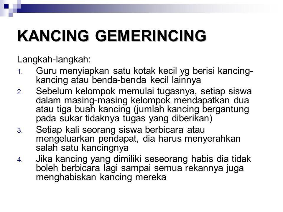 KANCING GEMERINCING Langkah-langkah: 1.