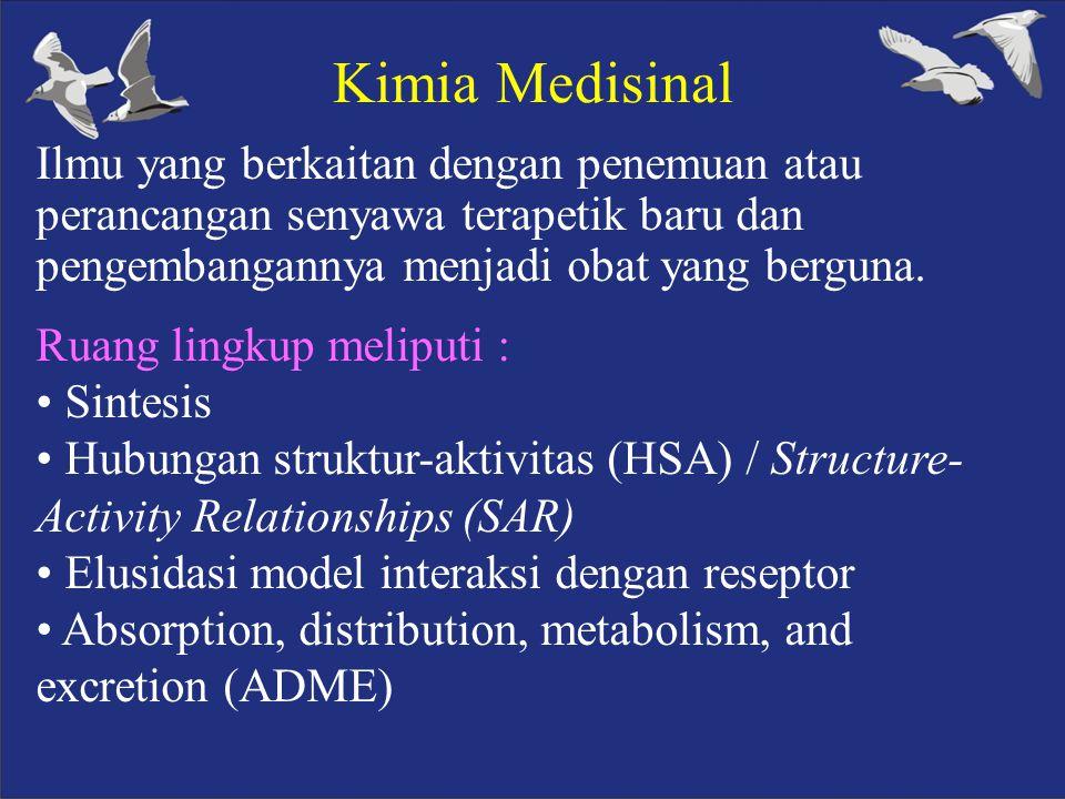 1. PENDAHULUAN Definisi, Ruang Lingkup dan Sejarah Kimia Medisinal