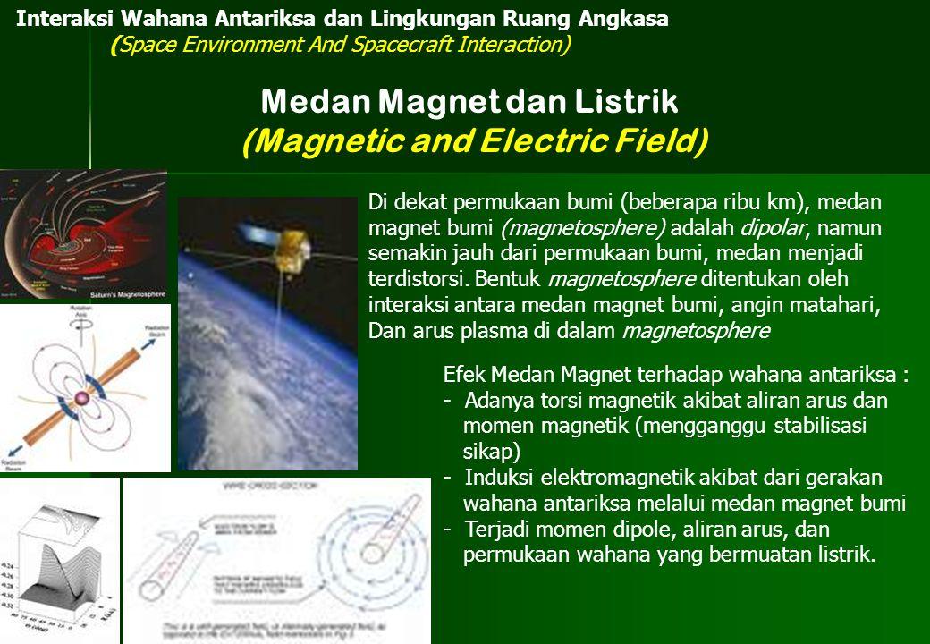 Di dekat permukaan bumi (beberapa ribu km), medan magnet bumi (magnetosphere) adalah dipolar, namun semakin jauh dari permukaan bumi, medan menjadi te