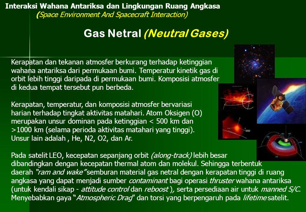 Interaksi Wahana Antariksa dan Lingkungan Ruang Angkasa (Space Environment And Spacecraft Interaction) Gas Netral (Neutral Gases) Kerapatan dan tekana