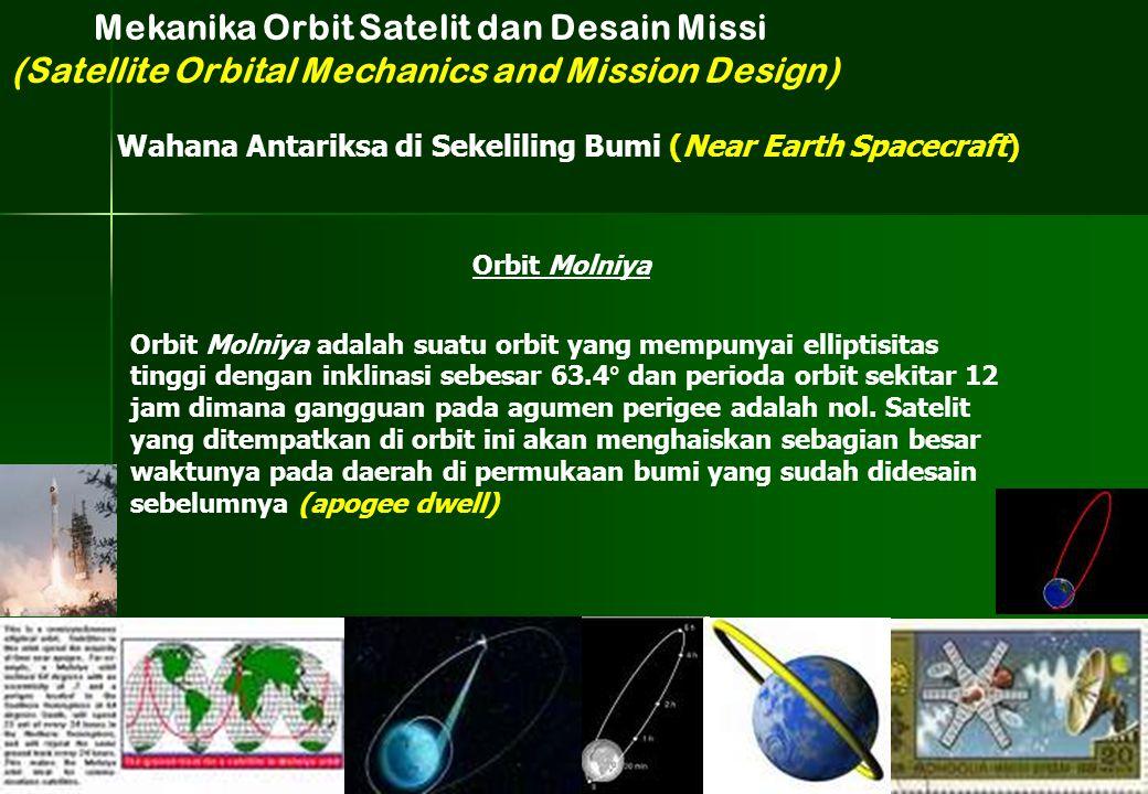 Orbit Molniya adalah suatu orbit yang mempunyai elliptisitas tinggi dengan inklinasi sebesar 63.4° dan perioda orbit sekitar 12 jam dimana gangguan pa