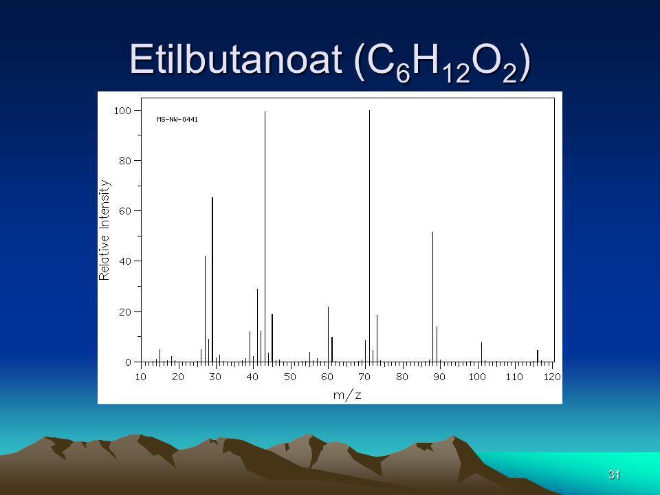 Etilbutanoat (C 6 H 12 O 2 ) 31
