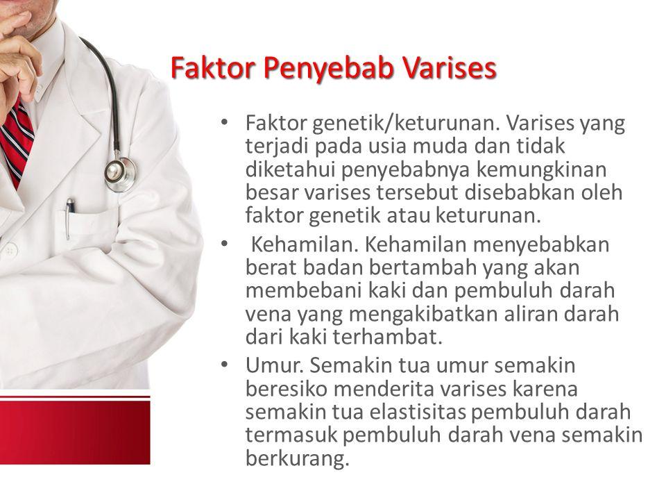 Faktor Penyebab Varises Faktor genetik/keturunan.