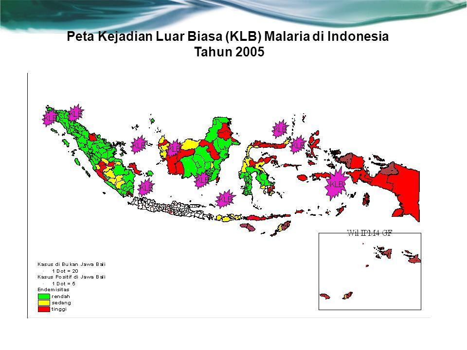 Peta Kejadian Luar Biasa (KLB) Malaria di Indonesia Tahun 2005