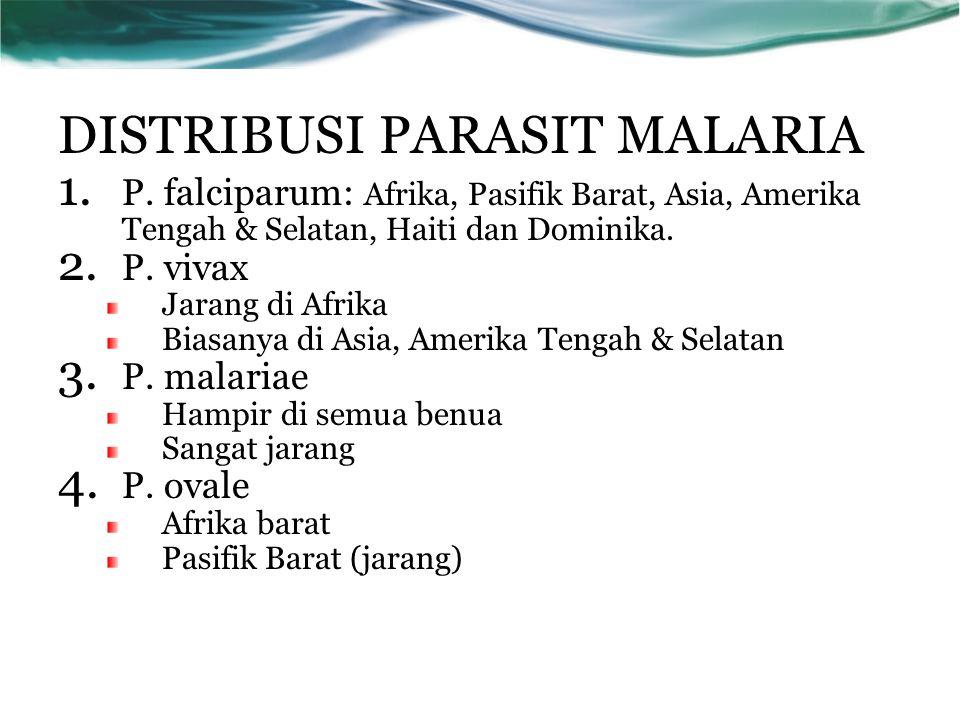 MASA INKUBASI PARASIT DALAM TUBUH NYAMUK P.falsiparum9 – 10 hari P.