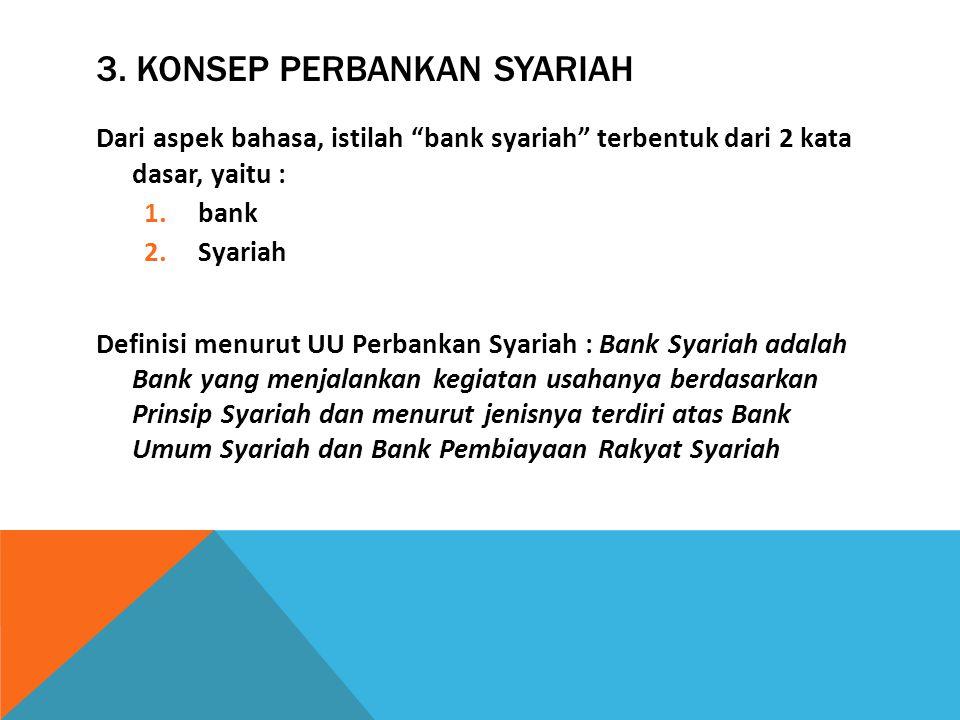 "Dari aspek bahasa, istilah ""bank syariah"" terbentuk dari 2 kata dasar, yaitu : 1.bank 2.Syariah Definisi menurut UU Perbankan Syariah : Bank Syariah a"