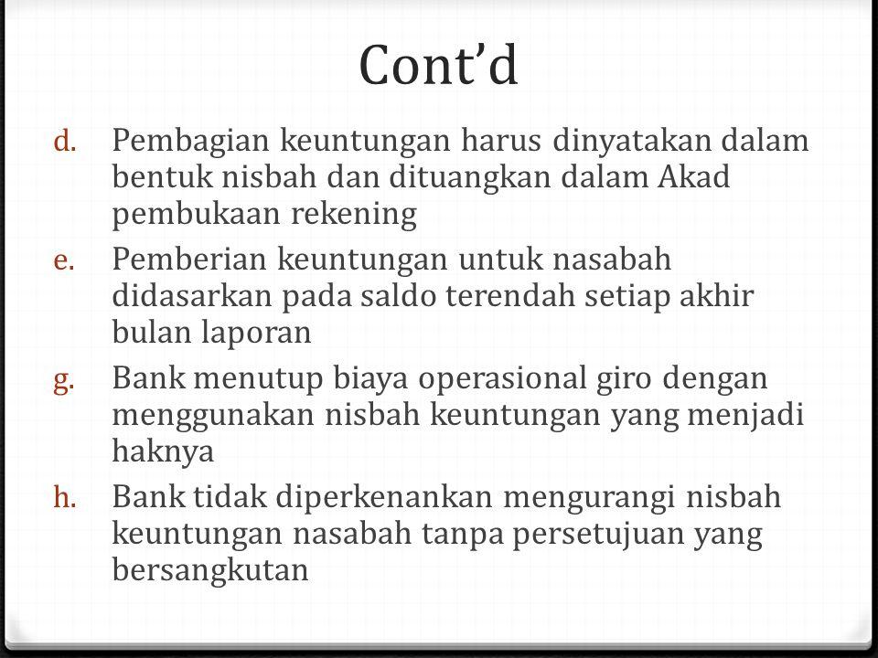 Cont'd d.