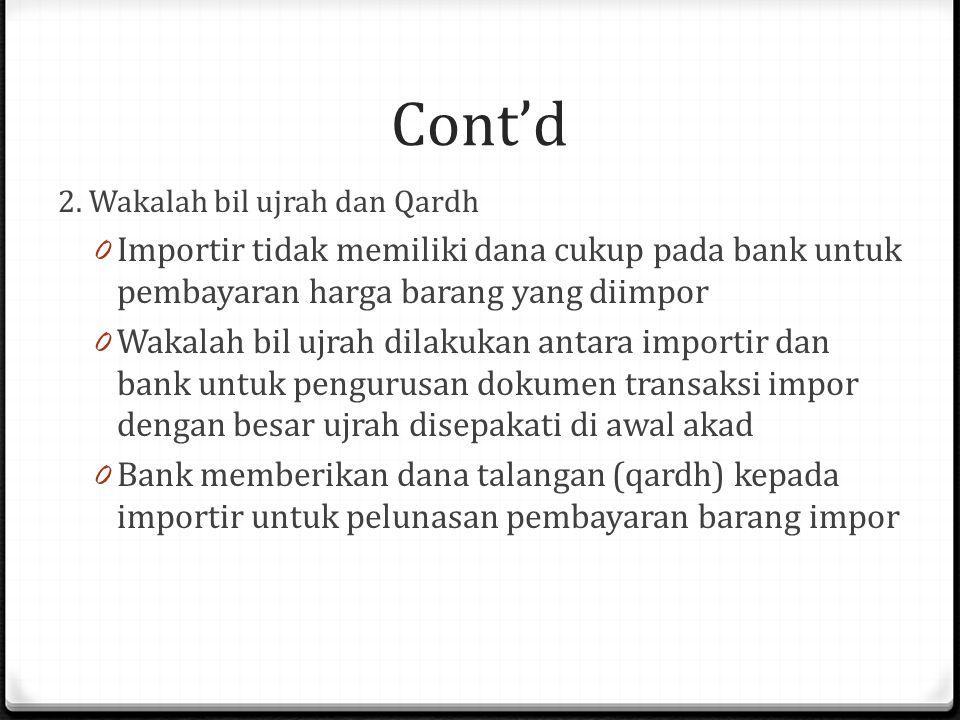 Cont'd 2.