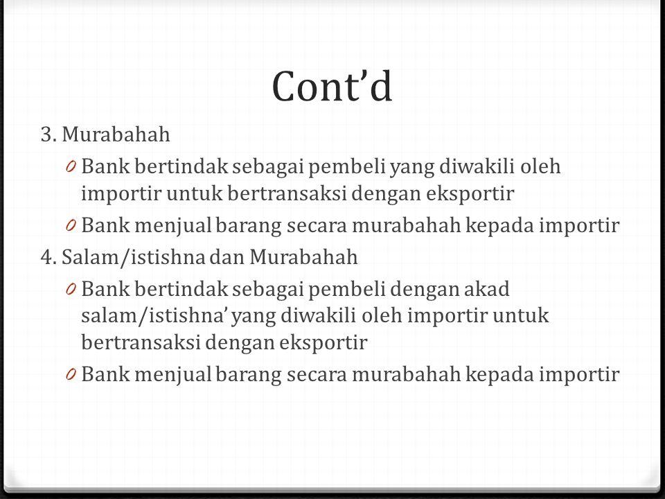 Cont'd 3.