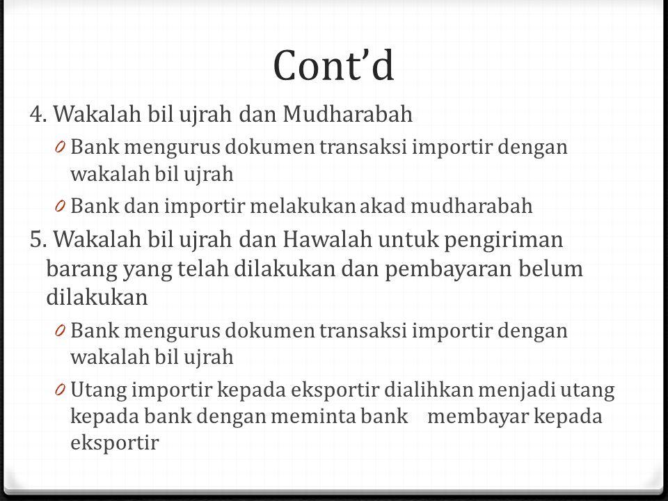 Cont'd 4.