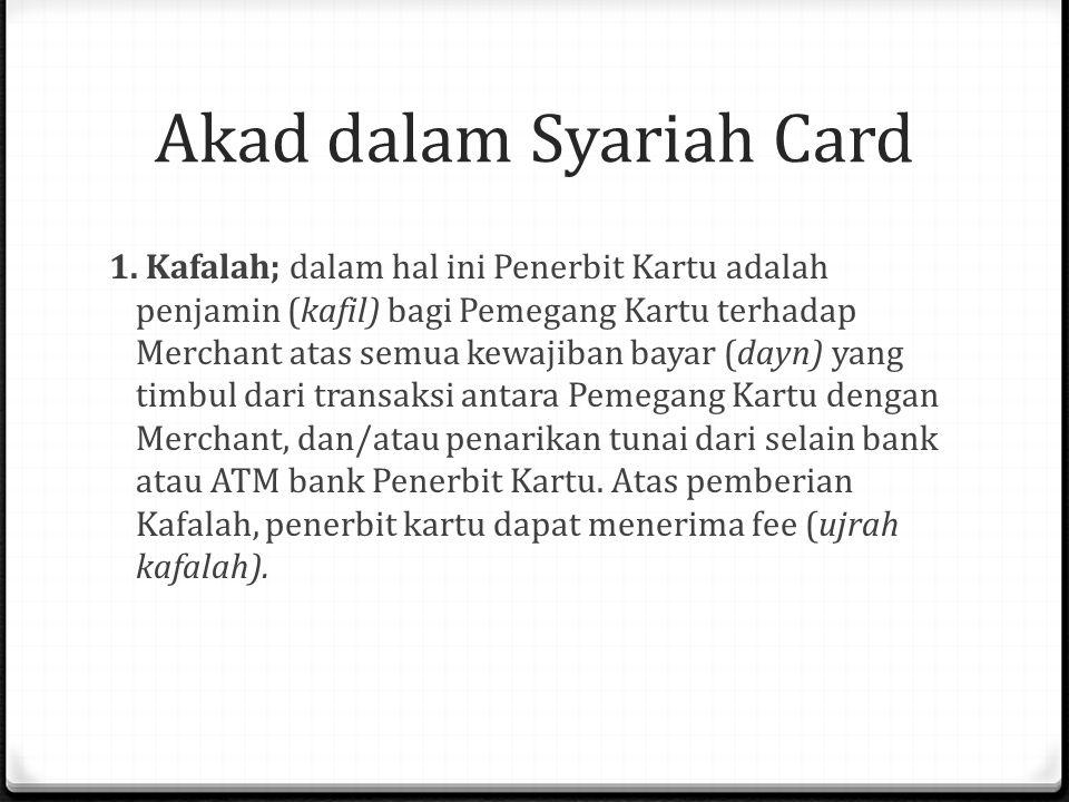 Akad dalam Syariah Card 1.