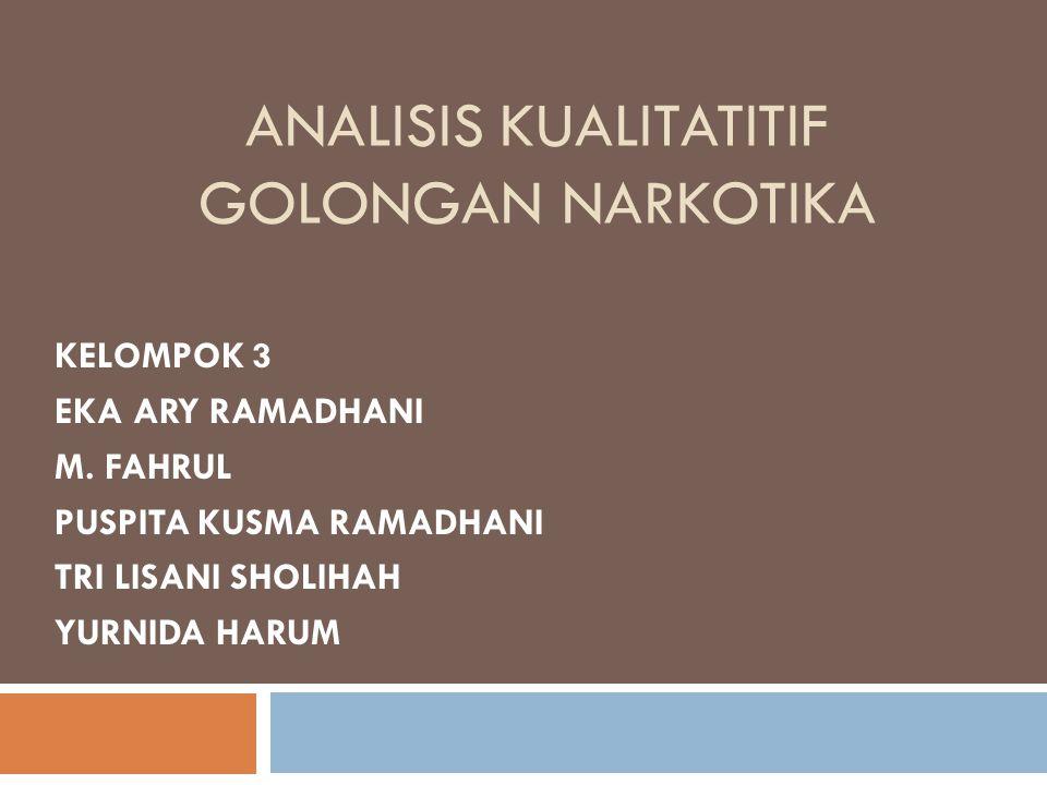 Analisis Kualitatif  Analisis kualitatif adalah suatu proses dalam mengidentifikasi keberadaan suatu senyawa kimia dalam suatu larutan/sampel yang tidak diketahui.