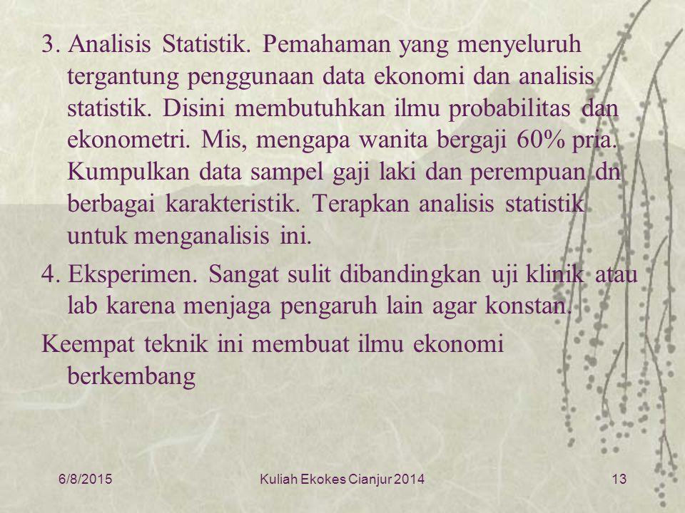 3.Analisis Statistik.