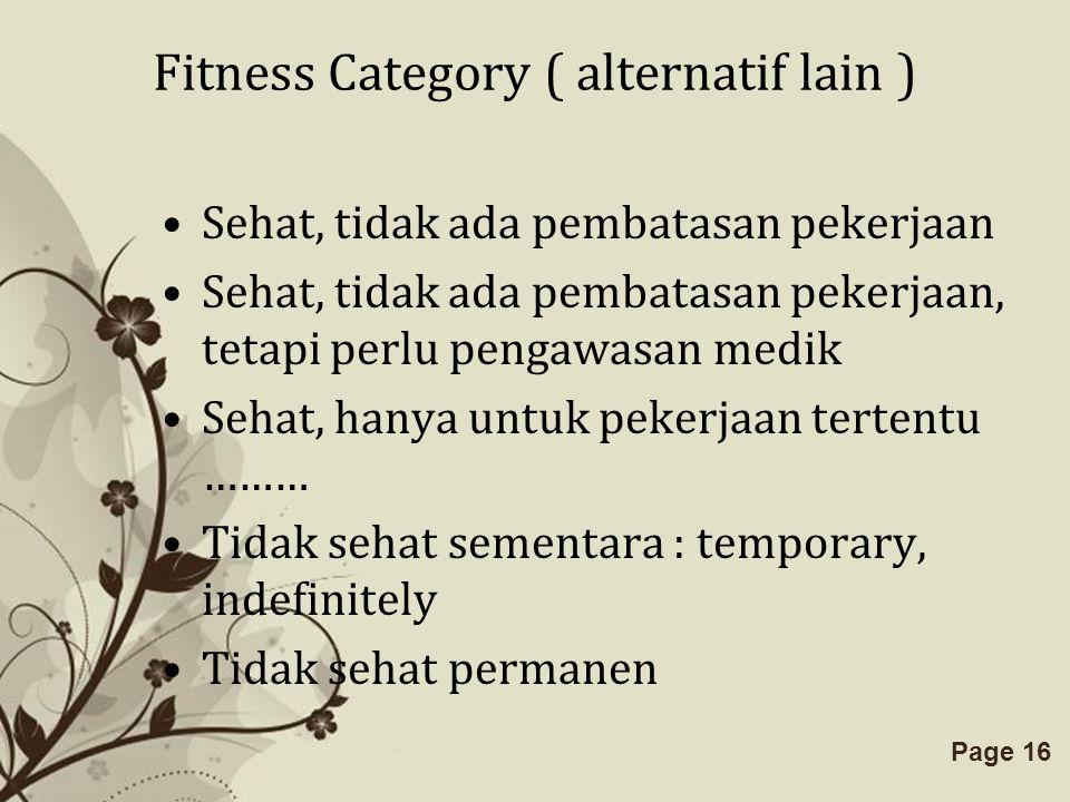 Free Powerpoint TemplatesPage 16 Fitness Category ( alternatif lain ) Sehat, tidak ada pembatasan pekerjaan Sehat, tidak ada pembatasan pekerjaan, tet