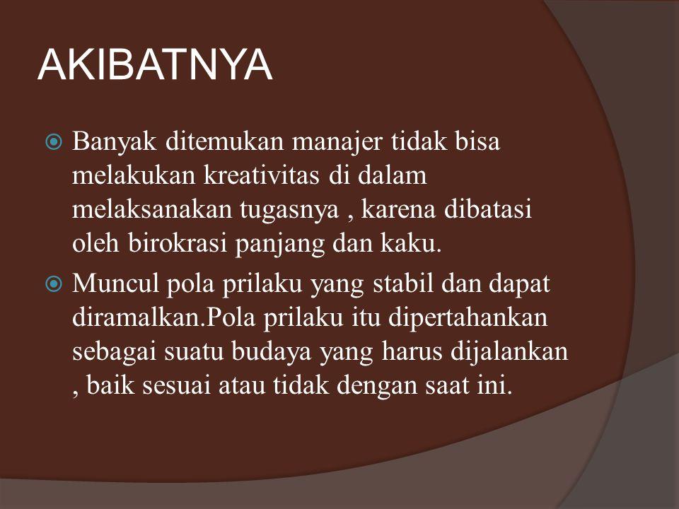 Analogi birokrasi sentralisasi Ulat sutera diprogram mengikuti benang sutera yang ditaruh oleh pimpinannya.