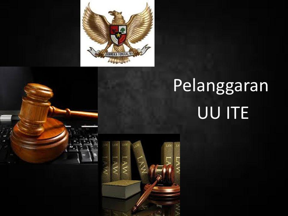 Pelanggaran UU ITE