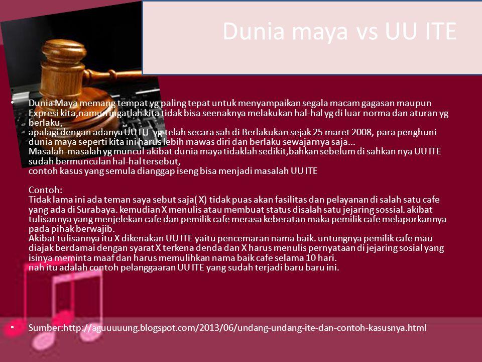 Pasal-pasal yang dinilai mengandung pasal karet oleh pemohon uji materiil, Iwan Piliang, adalah Pasal 27 ayat (3) dan Pasal 45 ayat (1) UU Informasi dan Transaksi Elektronik.