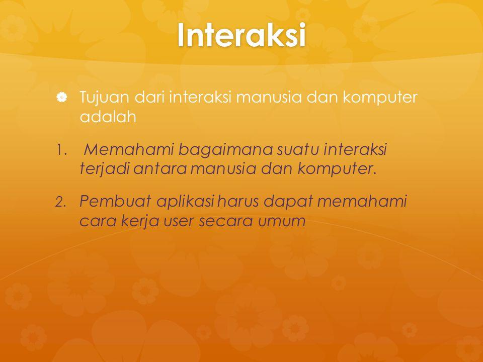 BATAS KINERJA INTERAKTIF   Batas kinerja interaksi antara manusia dan komputer adalah sebagai berikut :   Batas komputasi   Batas saluran penyimpanan   Batas grafik   Kapasitas jaringan