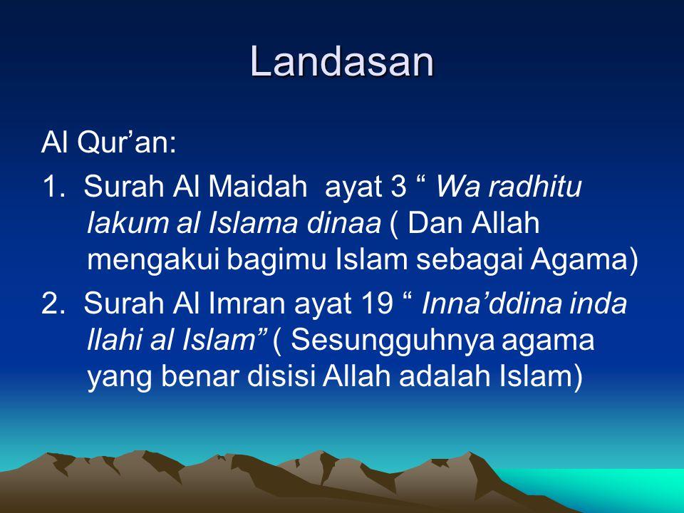 Landasan Al Qur'an: 1.
