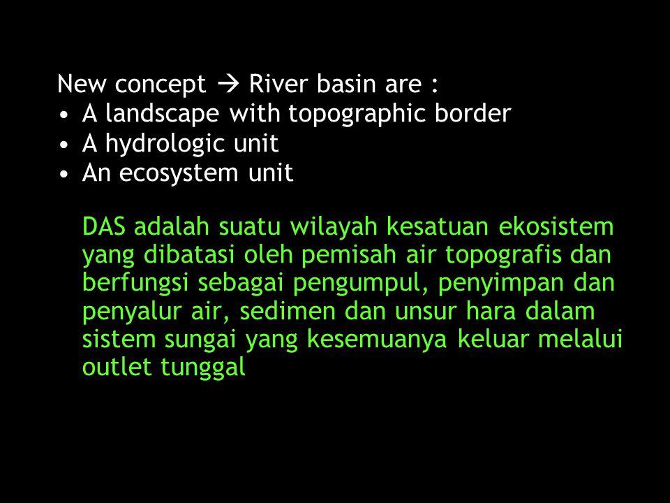  Jadi menurut aspek proses hidrologi, pengelolaan DAS harus mendasarkan pada hal-hal berikut : 1) DAS merupakan suatu sistem air, yaitu mendaur ulang melalui rangkaian kesatuan siklus atmosfor-vegetasi-tanah.