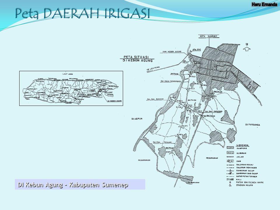Peta dan skema DI Kebun Agung - Kabupaten Sumenep