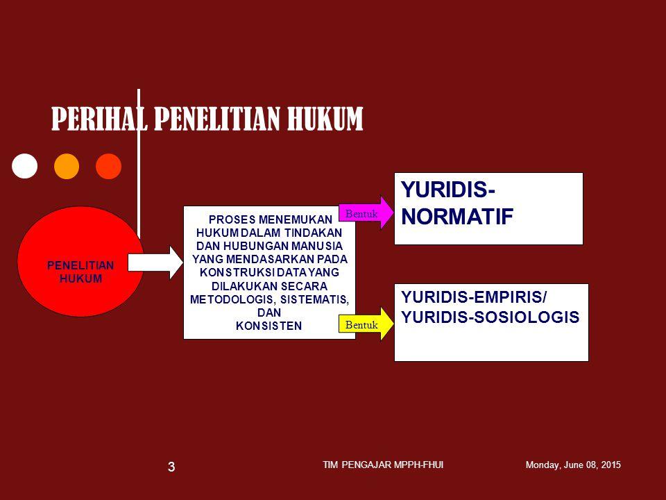 PENELITIAN KUANTITATIF PENELITIAN KUALITATIF 1.