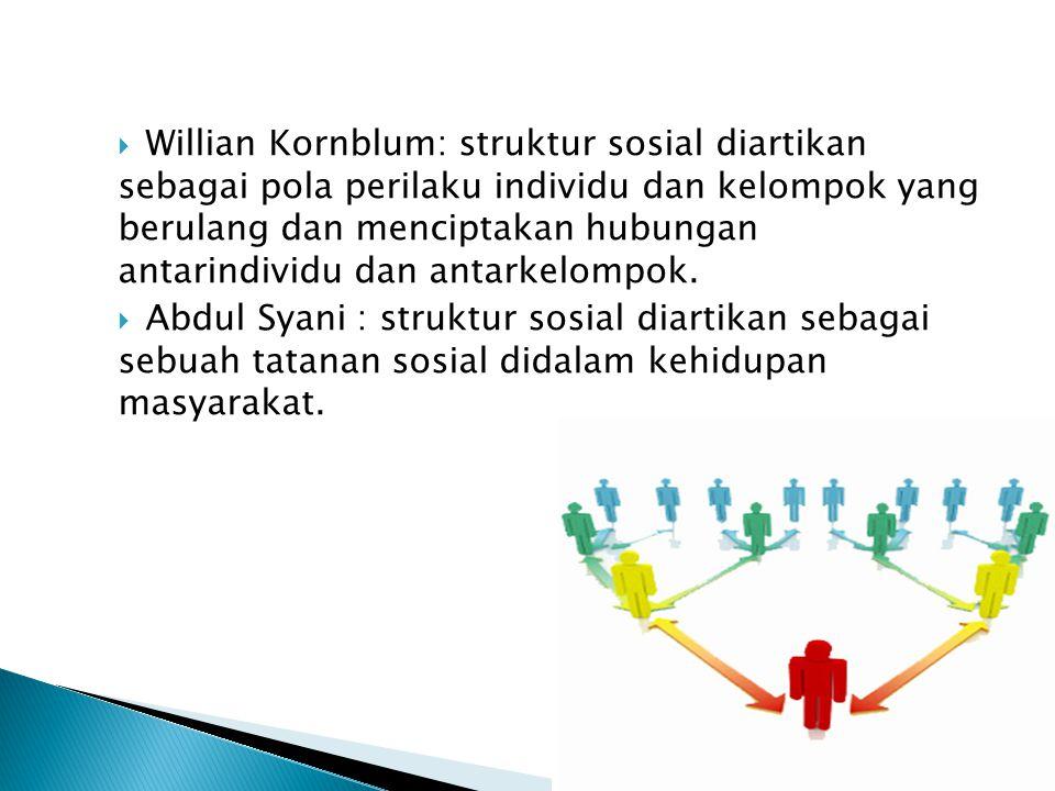 B.Ciri – Ciri Struktur Sosial Berikut ciri – ciri struktur sosial: 1.