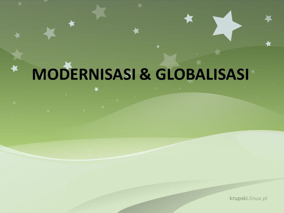 Modernus ← Modo (cara) & Ernus (Periode masa kini) Modernisasi : Sebagai proses menuju masa kini atau proses menuju masyarakat modern.