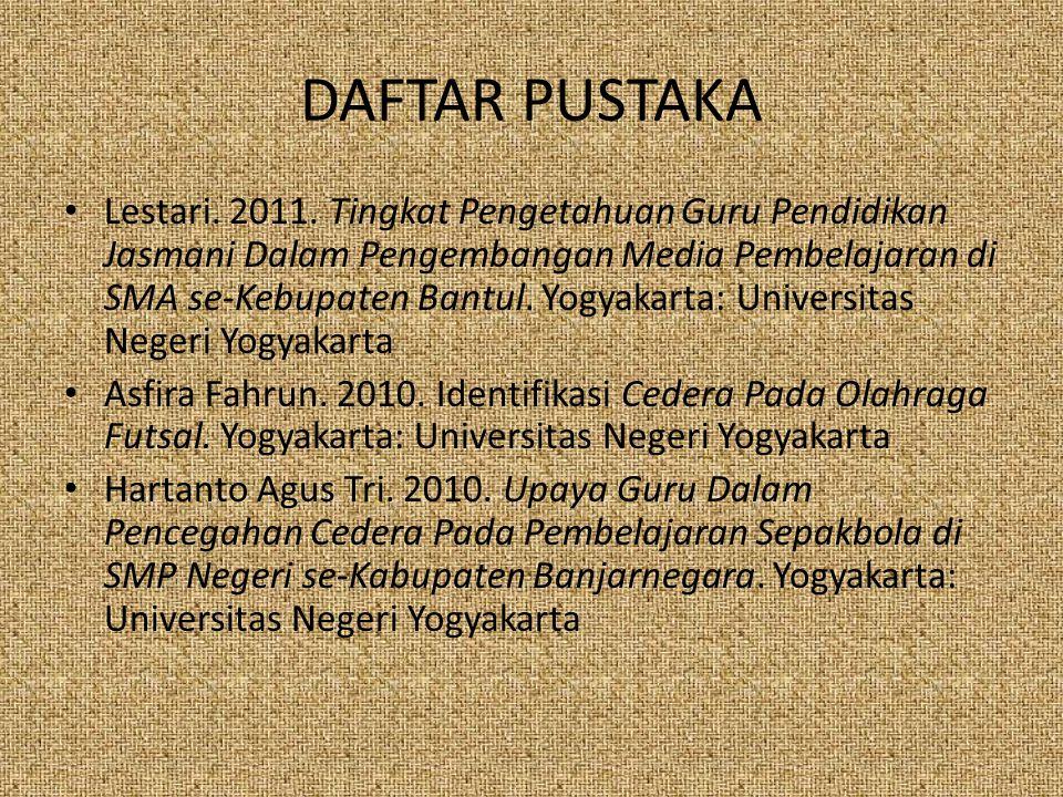 DAFTAR PUSTAKA Lestari.2011.