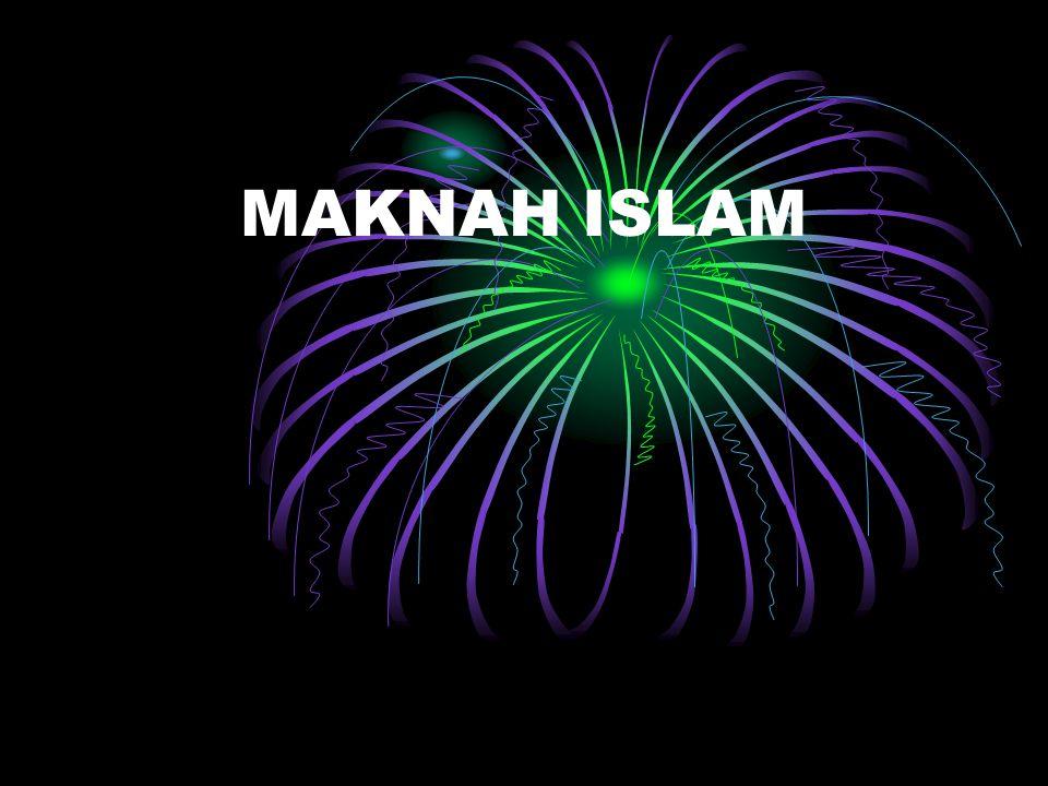 Ajaran islam bersifat menyeluruh yang satu dengan yang lainnya tidak dapat dipisah- pisahkan yang meliputi bidang aqidah, akhlaq, ibadah dan muamalah