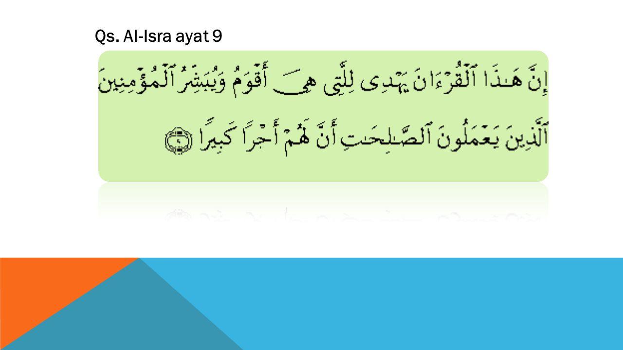 Qs. Al-Isra ayat 9