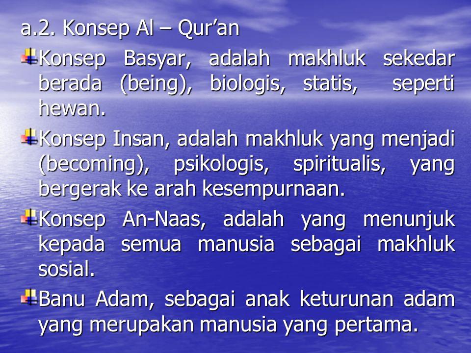 b.b.Persamaan & Perbedaan Manusia dengan Makhluk Lain Hewan a.