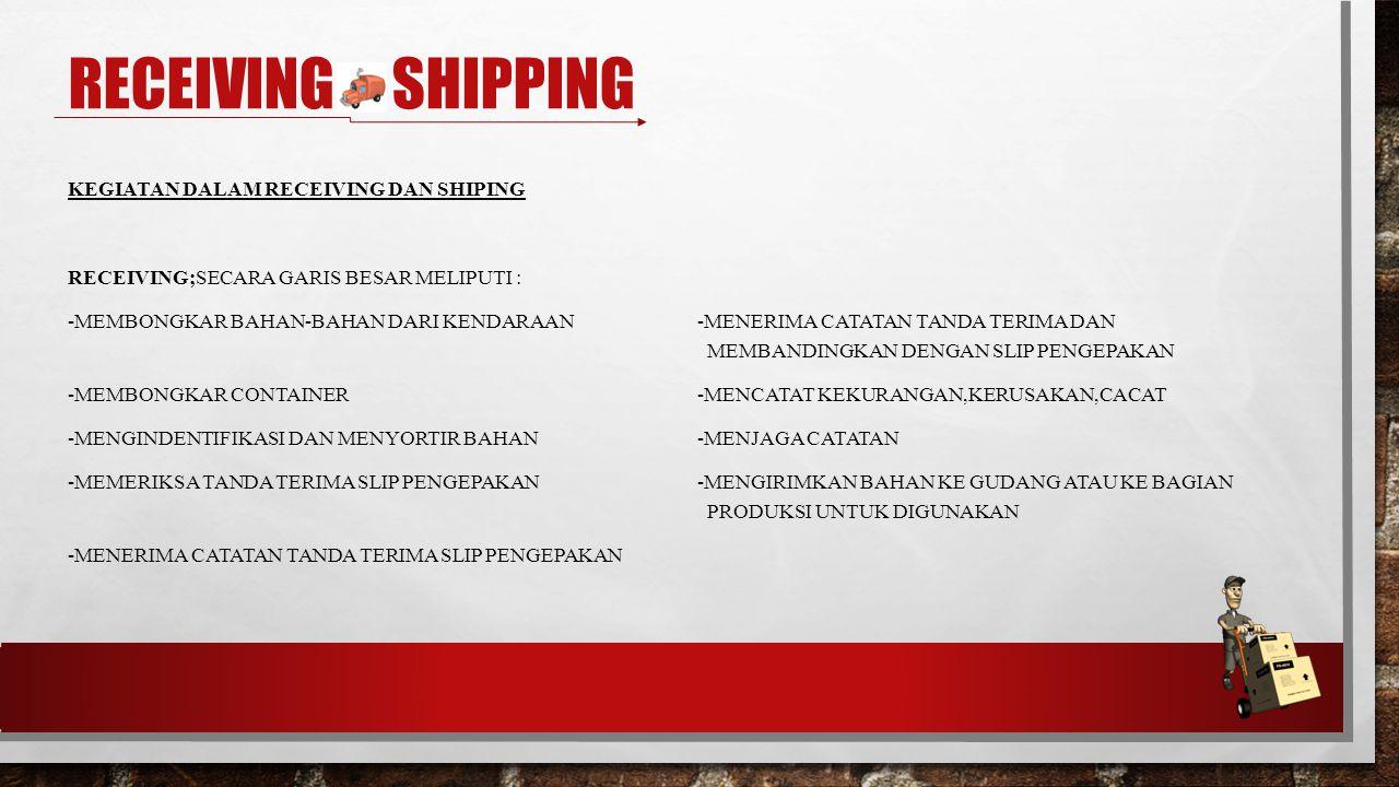 TERIMA KASIH RECEIVING & SHIPPING