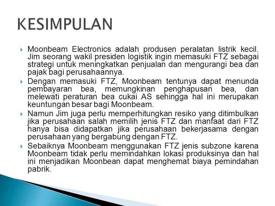  Moonbeam Electronics adalah produsen peralatan listrik kecil.