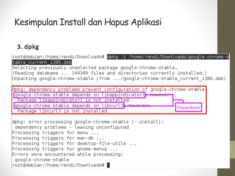 Kesimpulan Install dan Hapus Aplikasi 3. dpkg