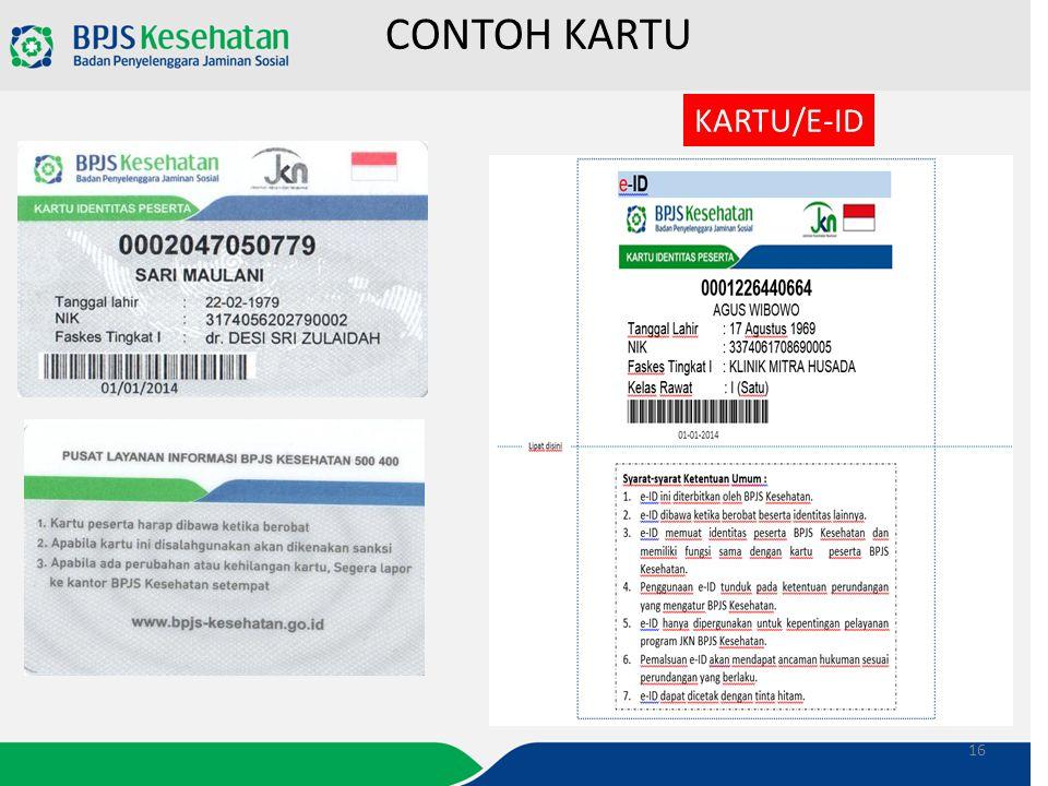 CONTOH KARTU KARTU/E-ID 16